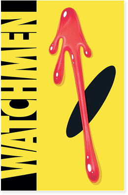 Cover to the Watchmen Absolute Edition, by Alan Moore and Dave Gibbons.