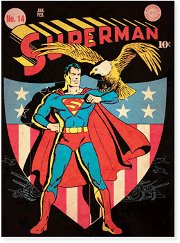 Superman issue 14 cover, from 1942.